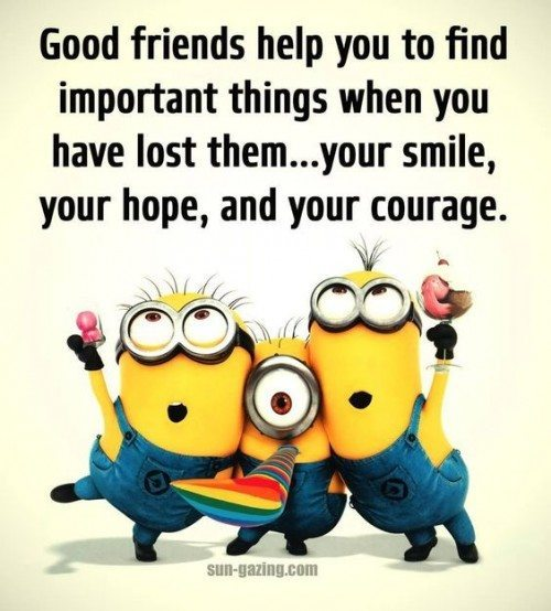 Quotes About Smile And Friendship New Top 30 Minions Friendship Quotes  Funny Minions Memes