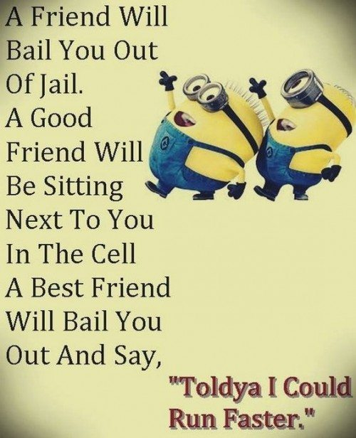 A Good Friend Quote: Top 30 Minions Friendship Quotes