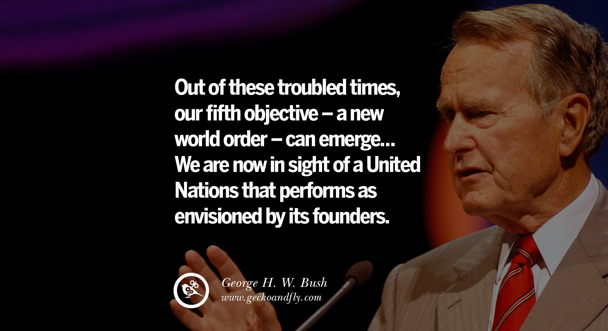 Image result for bush new world order quote